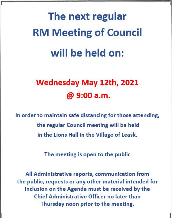 May Council Meeting